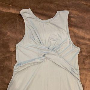 NWT - ASOS powder blue tank maternity dress